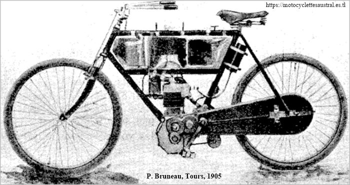 Paul Bruneau et Cie, Tours, motocyclette 1905
