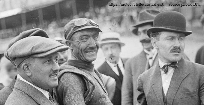 Tour de France 1922, José Pelletier et deux personnes, portraits
