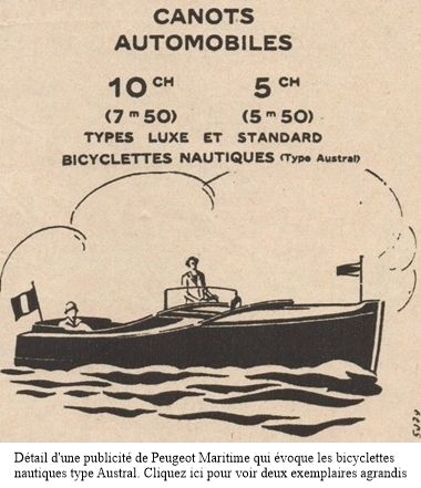 publicité Peugeot Maritime 1929, détail