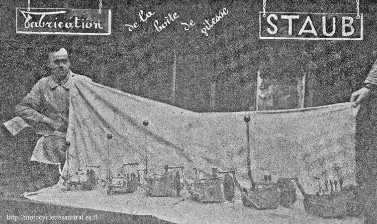 George Staub présente la gamme de boîtes de vitesses de 1928