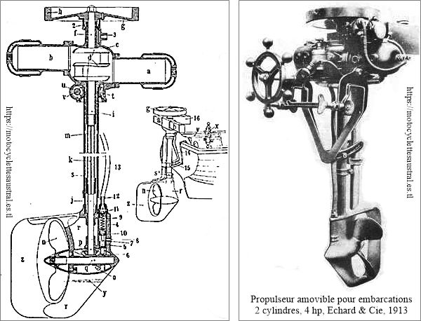 moteur hors-bord Lutétia, Marcel Échard 1913