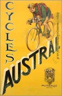 affiche Cycles Austral, dessinée par Albert Édouard Puyplat