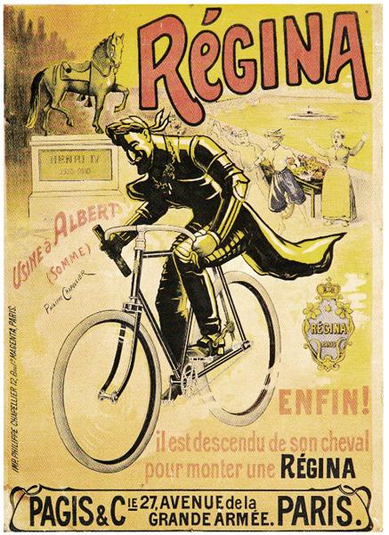 affiche cycles Régina, usines à Albert, Somme