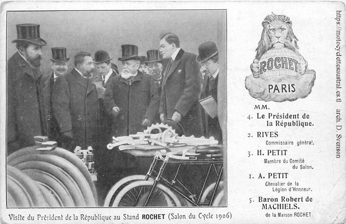 salon du cycle 1906, stand Rochet