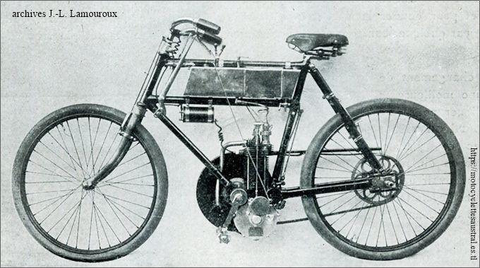 la motocyclette Rochet, 1902, d'après les brevets Chapelle frères
