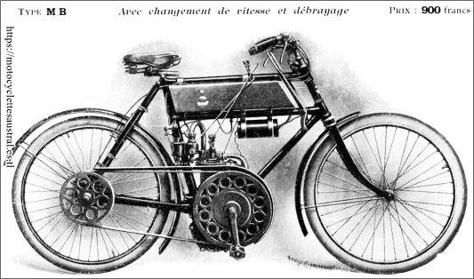 motocyclette Rochet, type MB, 1904