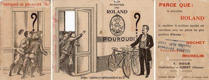 publicité cycles Roland, Albert, Somme