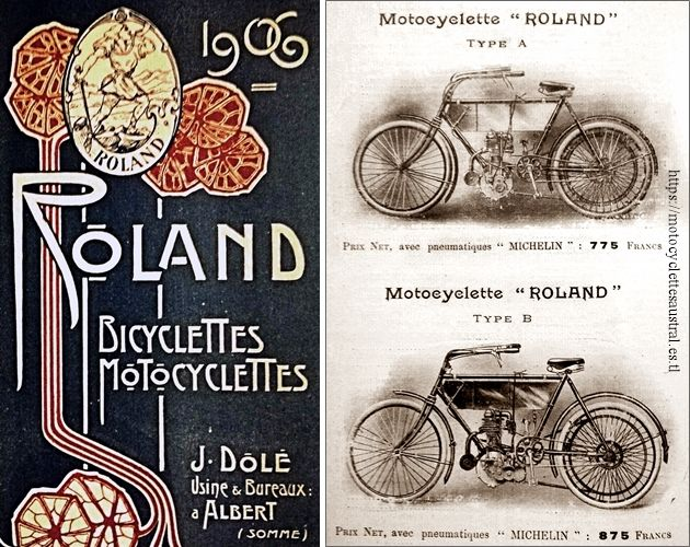 catalogue motos Roland 1906, types A et B