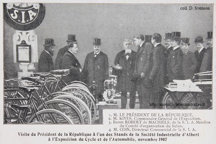 salon du cycle 1907, stand de la SIA