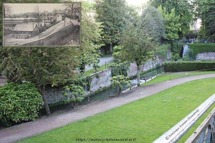 Société Industrielle d'Albert: jardin public avec lieu où anciennement étaient les bâtiments de la SIA. foto prise par l'auteur en 2017. Tous droits réservés