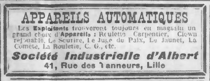 SIA, succursale à Lille, coupure de presse avec publicité