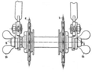 roue retournable, brevetée par la SIA en 1914, dessin du brevet