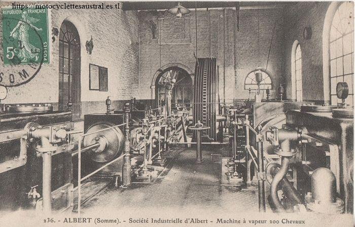 usine de la Société Industrielle d'Albert. Une machine à vapeur