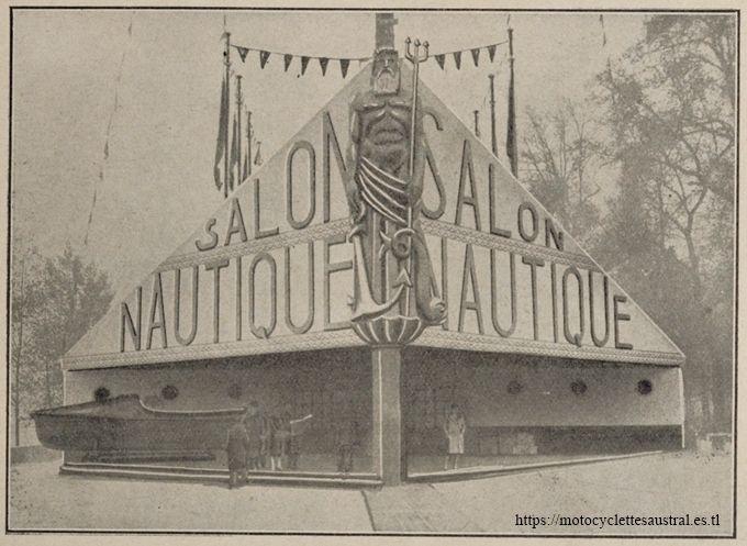 L'entrée du Salon nautique 1926 à Paris