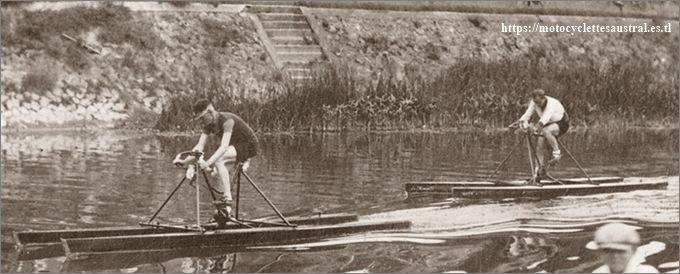 Georges Gatier et René Savard, régate sur la Marne en août 1929
