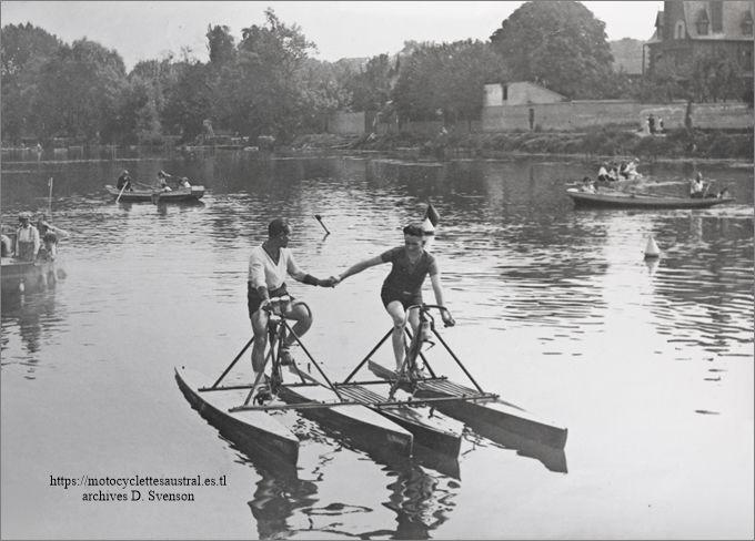 René Savard, Gatier regate bicyclettes aquatiques sur la Marne
