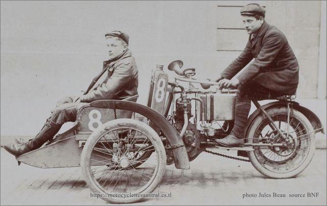 Thomas Schweitzer, Tour de France 1906 sur tricar Austral