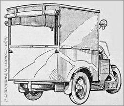 Camionnette 3 roues présenté au Salon 1930, dessin