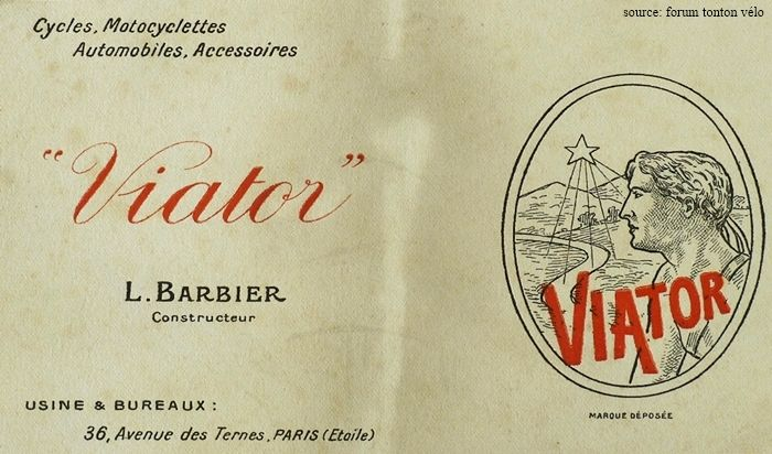 cycles Viator, L. Barbier constructeur