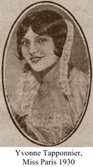 Yvonne Taponnier, Miss Paris 1930