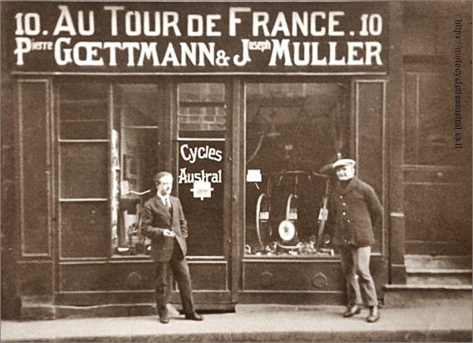 agence cycles Austral Goettmann et Mueller, Metz 1922