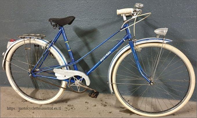 vélo Austral, cadre mixte, bleue, années 1950