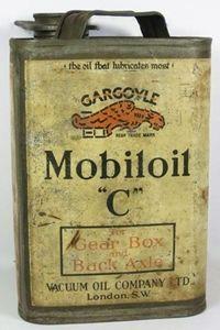 bidon d'huile Gargoyle Mobiloil