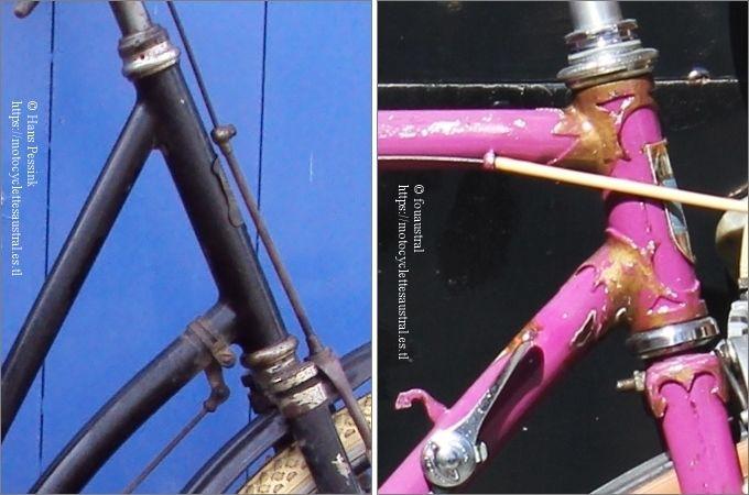 cadres de bicyclettes Austral, soudé, années 1920 et manchonné, années 1940-1950