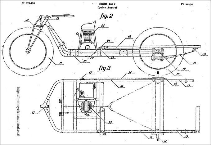 châssis du trimoteur Austral type L2