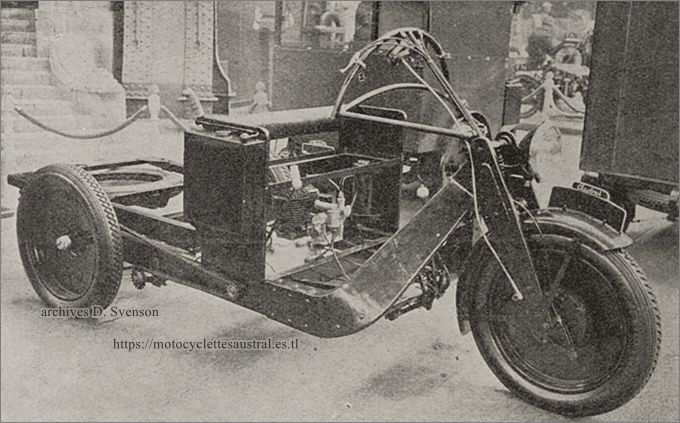 photo du châssis du triporteur Austral type L2, Salon 1930