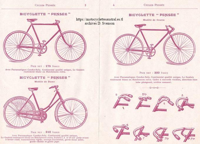 délpiant Cycles Pensée, 1910, Société Industrielle d'Albert