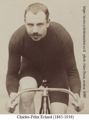 Portrait de Charles Félix Échard sur bicyclette, 1894