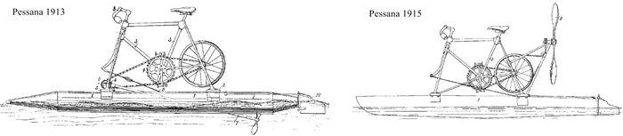 hydrocycle Pessana, 1913 et 1915