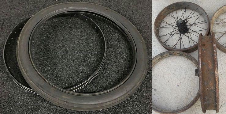 Crochet de pneu vers le haut