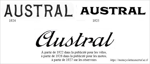 écriture du logo Austral