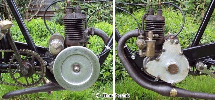 le moteur P.S (Poinsard et Sivigny) du vélomoteur Austral A24 de H. Pessink