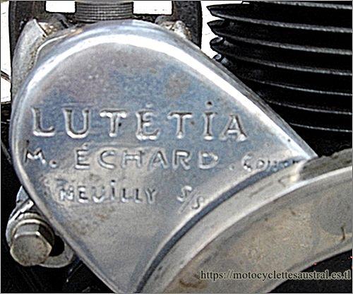 moteur Lutétia 250 ccm, 1928 avec gravure Échard