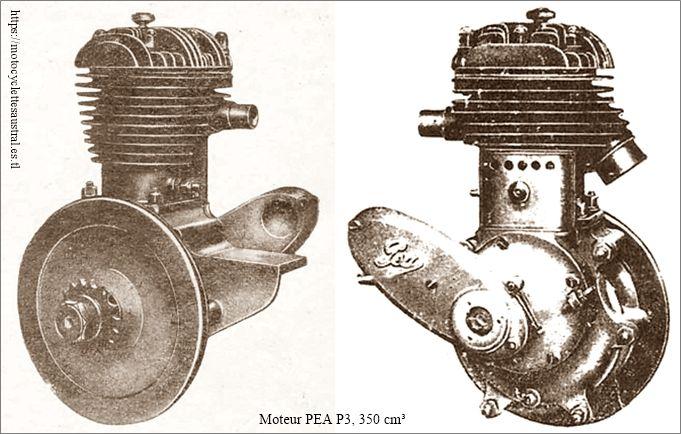 moteur PEA 350cm3, deux vues