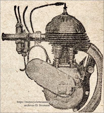 le moteur Voisin 350 ccm latéral.