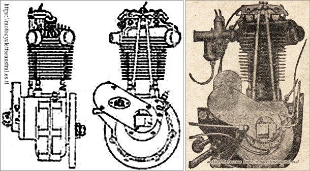 moteur Voisin 350 culbuté, schéma et photo