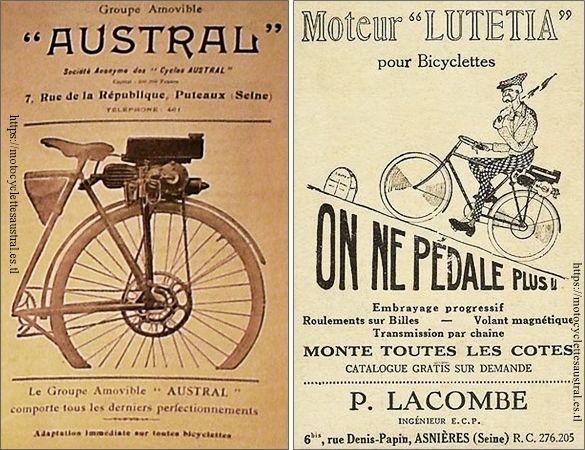 groupe amovible Austral, 1923, et moteur Lutetia