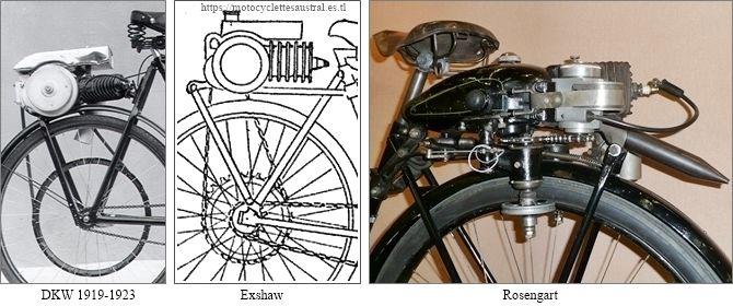 moteurs auxiliaires DKW, Exshaw et Rosengart
