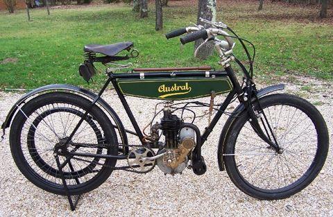 motocyclette Austral 2HP 1919-1924 à moteur Zürcher
