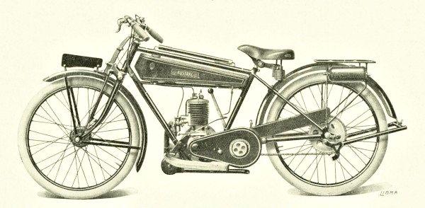 1926 Austral motocyclette légère type GT26, 175 cm3