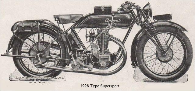 motocyclette Austal modèle Supersport 1928
