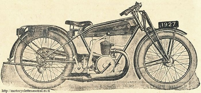 """motocyclette Austral type C27, 1927, en version """"Confort"""", muni de pneus ballon"""