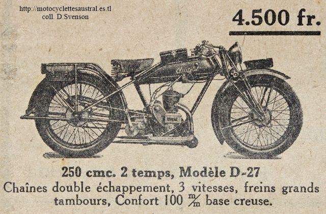 Austral moto type D-27, 1927