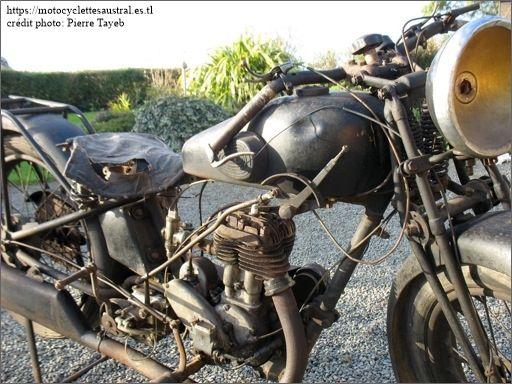 Austral moto type NV 350 cm3 1929, moteur Péa P3