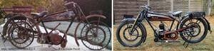 moto Austral type PC 1928 avant et après la restauration