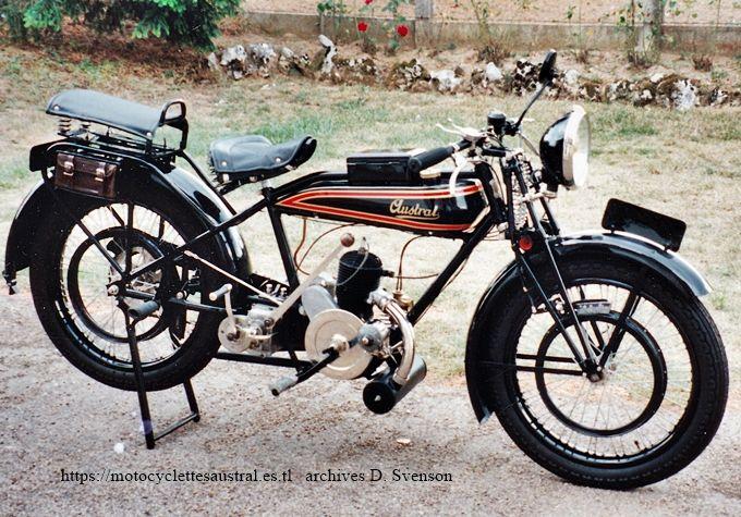 Motocyclette Austral, type PC, 1928,  à moteur Lutétia 250ccm